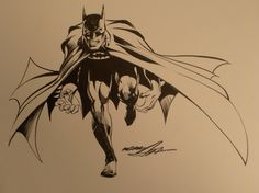 Neal Adams Batman pin-up Comic Art ..(a song from West Side Story comes to mind.... --HD)