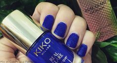 Mix of Colors and Patterns: NOTW: KIKO REAL GLARE 04 Keen Cobalt Blue