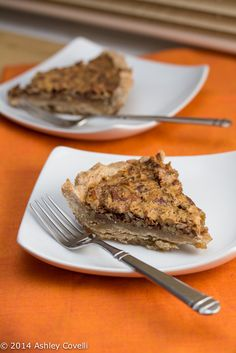 Bourbon Bacon Pecan Pie  with a Whole Wheat Crust + Cookbook Giveaway