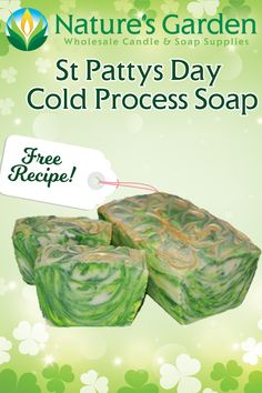Free St. Patty's Day Cold Process Soap Recipe by Natures Garden