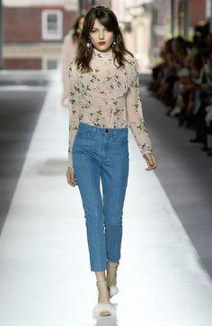 Topshop Unique Hortensia floral print silk blouse