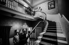 By Stylish Wedding Photography - Cristina making her entrance to meet her father in our exclusive use wedding venue. spot Danielle making sure the dress is just perfect - we are on hand to make sure your day is absolutely as you'd like it! Real Couples, Park Weddings, Wedding Venues, Stairs, Wedding Photography, Entrance, Shots, Father, Daughter