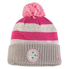 cheap for discount d2b8c bf4c5 Amazon.com  Women s New Era Gray 2016 Breast Cancer Awareness Sideline  Cuffed Pom Knit Hat (Steelers)  Clothing. Indianapolis ColtsBreast ...