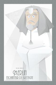FACES OF KAAMELOTT SERIE - Merlin l'Enchanteur