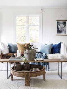 | You can add chakki table under another coffee table. Great way to create layers!
