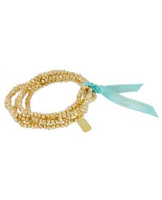 Goldrush Bracelet - Stretchable - Gold plated - Lucky Star Jewels