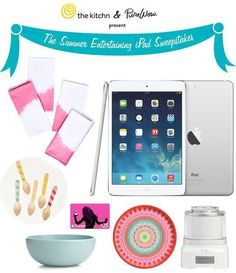 A summer entertaining package including an iPad mini, iTunes gift card, Cuisinart ice cream maker, and other accessories for summer parties!...