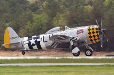 "REPUBLIC P-47D ""THUNDERBOLT"" 'JACKY'S REVENGE'. AMERICAN AIRPOWER MUSEUM."