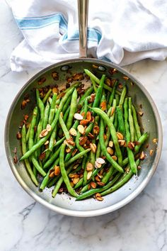 green beans with mustard cream sauce and toasted almonds Crustless Bacon Quiche Recipe, Quiche Recipes, Vegetable Recipes, Salad Recipes, Vegetarian Recipes, Healthy Recipes, Noodle Recipes, Beef Recipes, Healthy Food