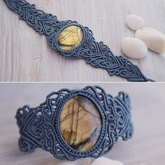 Ажурный браслет с крупным ярким лабрадором, сделан на заказ. Для заказа пишите в…