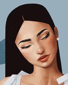 45 New Ideas Amazing Art Painting Inspirational Illustration Tutorial, Illustration Art, Art Sketches, Art Drawings, Drawing Faces, Drawn Art, Freelance Illustrator, Aesthetic Art, Portrait Art