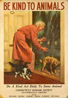 Community Post: 7 Vintage Posters That Prove Kindness To Animals Isn't A New…