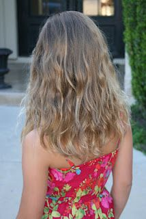 Wavy beach curls in your hair in 20 minutes ... no curling iron needed...skip frying your hair