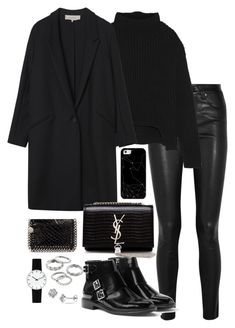 """Untitled #5268"" by theeuropeancloset on Polyvore featuring Helmut Lang, Rick Owens, Gérard Darel, Yves Saint Laurent, MANGO, Casetify, STELLA McCARTNEY, Apt. 9 and Rosendahl"