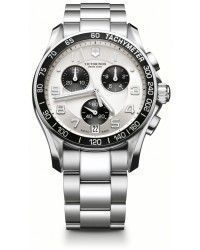Victorinox Swiss Army Chrono Classic Chronograph Quartz Men's Watch, Stainless Steel, Silver Dial, 241495