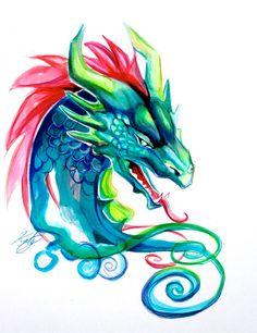 Dragon Head by Lucky978.deviantart.com on @DeviantArt