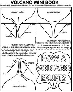 volcanoe worksheet | About Volcano Mini Book
