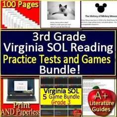 10 best virginia sol resources for reading ela test prep images on 3rd grade virginia sol reading test prep practice tests and games bundle fandeluxe Image collections