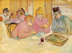 Henri de Toulouse-Lautrec The Ladies in the Dining Room. Date/Period 1893 - Painting. by Henri de Toulouse-Lautrec Henri De Toulouse Lautrec, Van Gogh, Grand Palais Paris, Maurice Utrillo, Tomie Ohtake, Kunsthistorisches Museum, Gauguin, Edouard Vuillard, Free Art Prints