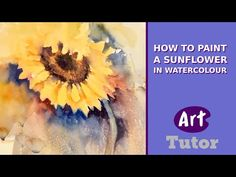 How to Paint a Sunflower in Watercolour