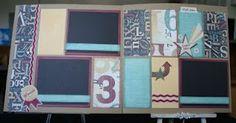 """""""Typeset"""" scrapbook layouts - CTMH"""