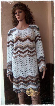 Les femmes habillent de style '' Missoni '' crochet / custom : Robe par marianageleva-knitted-fashion