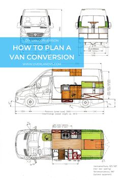 How to plan a DIY Campervan Conversion, Van Conversion Floor Plans, Van Conversion Layout, Van Conversion Interior, Camper Van Conversion Diy, Van Interior, Diy Van Camper, Build A Camper Van, Campervan Conversions Layout, Diy Van Conversions