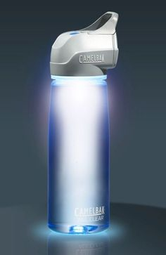 Portable water bottle that purifies the bacteria while out in the wilderness