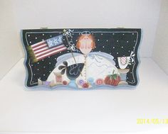 Hand Painted Sewing Box  Sewing Angel On by ToletallyPainted, $42.00