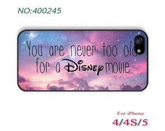 you are never too old for a Disney movie Phone Cases iPhone 5 Case iPhone 5S/5C Case by UnXpectedstyle, $9.99