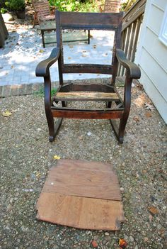 Redoing An Old Rocking Chair: Part 1   Young House Love