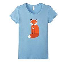Amazon.com: Women's Vector cute fox t-shirt Small Baby Blue: Clothing #fox #love #animals #animal #rescue #save #adopt #dont #shop #foxes #wild #gift #cute #tshirt #shirt #tee