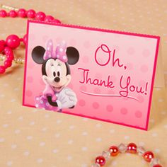 Minnie's Bow-tique Thank You Cards