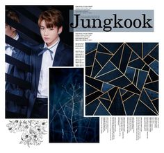 """""""Jungkook ~ bbmas"""" by odesigns ❤ liked on Polyvore featuring art, navy, kpop, bts and jungkook"""