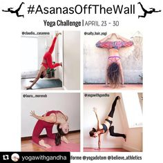 #Repost @yogawithgandha with @get_repost  My Beautiful friend @annamaya__  tagged me to this challenge  wanna join us!?   NEW CHALLENGE ANNOUNCEMENT .  Need some yoga inspiration? Fancy a change from your usual yoga routine?  Join us for 8 days of fun off the wall asanas!  We invite you to reinvent your regular asanas using the wall  #AsanasOffTheWall 23-30 April  Hosts: @claudia__casanova @laura__morenob @salty_hair_yogi  @yogawithgandha  Sponsors  @liforme  @onzie  @yogadotom…