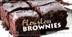 These are the best flourless brownies I have ever made! AND they have the least ingredients and are much more cost effective too! Yay for brownies! Nothing replaces a good brownie when you are craving one. Paleo Dessert, Paleo Sweets, Gluten Free Desserts, Dessert Recipes, Delicious Desserts, Healthy Baking, Healthy Treats, Healthy Cookies, Sin Gluten