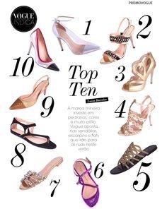Luiza Barcelos' shoes on Vogue Brasil
