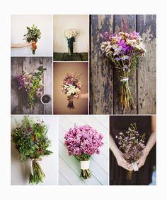 Brides bunches http://olivilla-olivilla.blogspot.de/2014/07/tendencia-novias-verano-ramos-silvestres.html