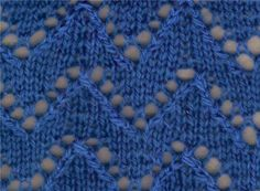 Lace Knitting Stitch #87 | Lace Knitting Stitches