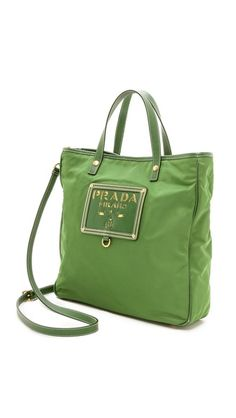 Prada Heart Print Nylon Tote Bag | Nylon Tote, Heart Print and Nylons