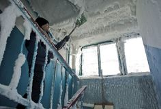 It's -74 °F (-59 °C) in Karaganda, Kazakhstan, And here is what it looks like inside an apartment building.