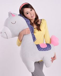 Large plush pony that will look great in your baby's nursery. Features: Stuffed & Plush Item Type: Animals Filling: PP Cotton Age Range: > 3 years old Features: Soft Form: Genius Animals: Horse Dimens Unicorn Stuffed Animal, Diy Stuffed Animals, Stuffed Toys, Baby Tech, Interesting Animals, Bird Toys, Christmas Pillow, Stuffed Animal Patterns, Unicorn Party