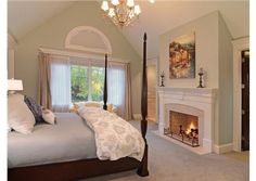Who wouldn't want a fireplace in their bedroom?! Hinsdale, IL  Coldwell Banker Residential Brokerage
