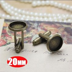 10Pcs 20MM vintage bronze brass round French Cuff by LancelotDIY,