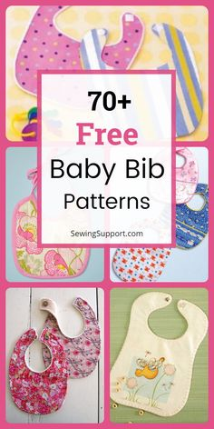 Trendy diy baby gifts for girls sewing projects bib tutorial Diy Baby Bibs Pattern, Baby Bibs Patterns, Bib Pattern, Free Pattern, Burp Cloth Patterns, Pattern Sewing, Pattern Ideas, Knitting Patterns, Quilt Baby