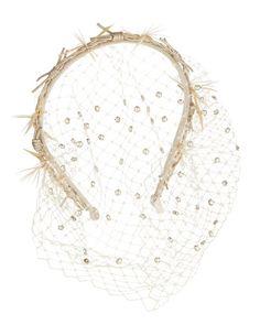 D105A Gigi Burris Gemini Violette Headband with Veil