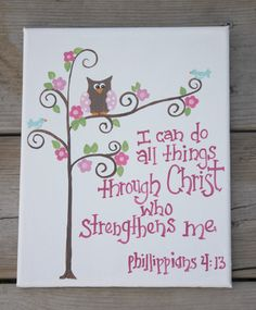 ☞ I love this picture - Just wondering where I can get one. Awesome Bible Verse Need to memorize it. - I can do all thing through Christ which strengthen me.☜ cool canvas painting ideas with Bible verses Scripture Art, Bible Art, Bible Scriptures, Bible Quotes, Scripture Pictures, Biblical Quotes, Qoutes, Art Journal Pages, Bible Journal