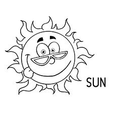 The Happy Sun Summer Coloring Pages Sun Coloring Pages Cool