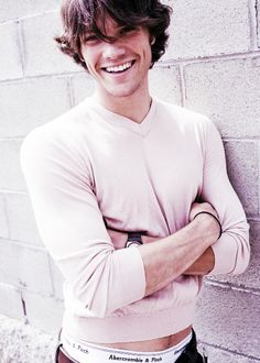 jared padalecki and his too-tight, pink shirt
