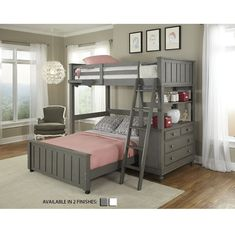 Weatherspoon L-Shaped Bunk Beds with Drawers & Reviews   Birch Lane